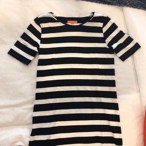 Joe fresh knit navy strip sheath dress